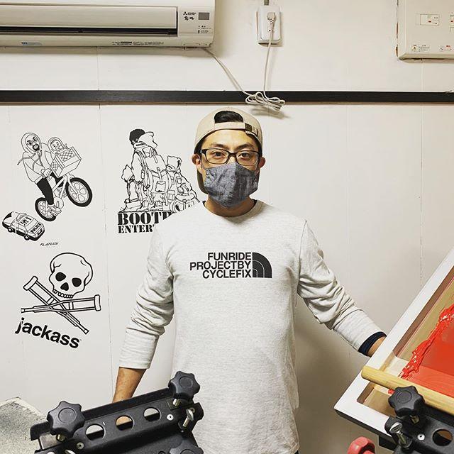 cycle Fix new designプリントしてきました!arhtipsさんのマスクも最高です!#cycleFix #サイクルフィックス  #arhtips #cyclefix0620