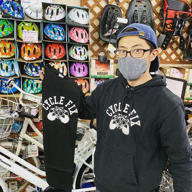 @cyclefix0620 tee shirt @arhtips cycle Fix Teeシャツ友人の刷り職人が1枚1枚手刷りでプリントしてくれています🤗子供サイズもありまーす️だいぶ寒くなってきたし、この季節は@arhtipsさんのマスク重宝してます#teeシャツ #cycle Fix  #サイクルフィックス #arhtips #マスク